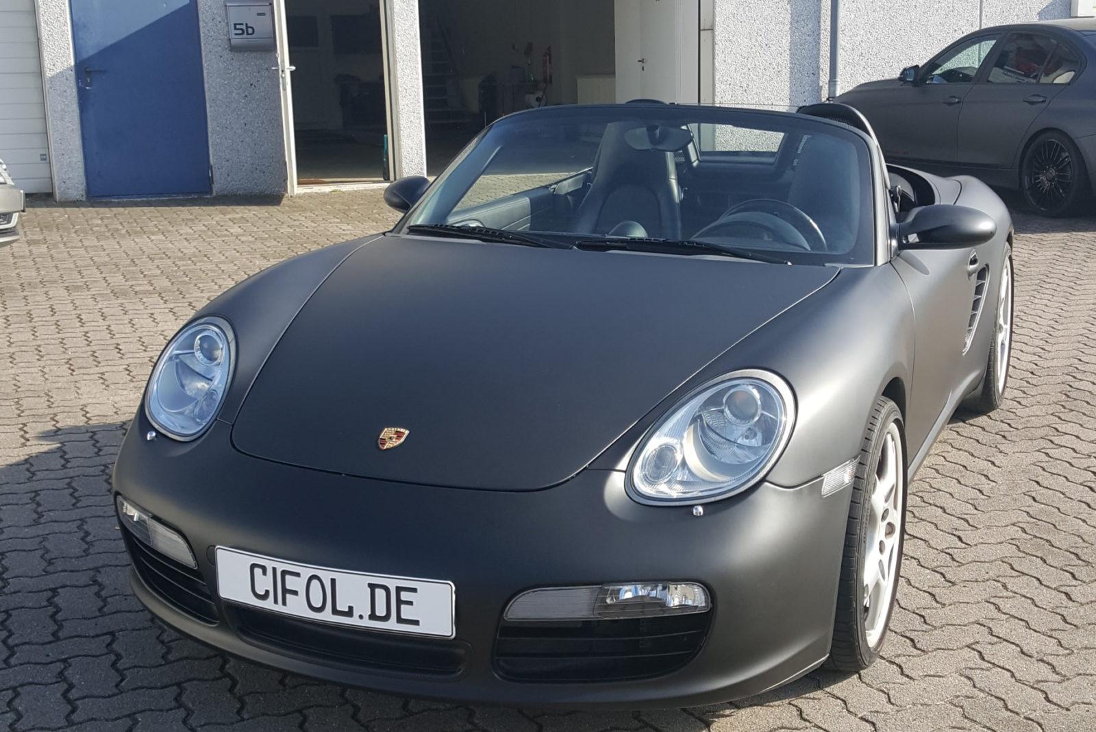 Luxus Premiumfolierung Porsche Boxster