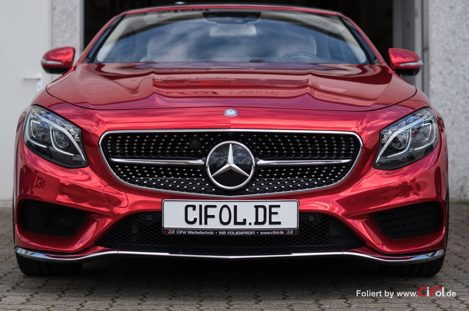 Exclusive Folierung Mercedes Benz S500 Cabrio