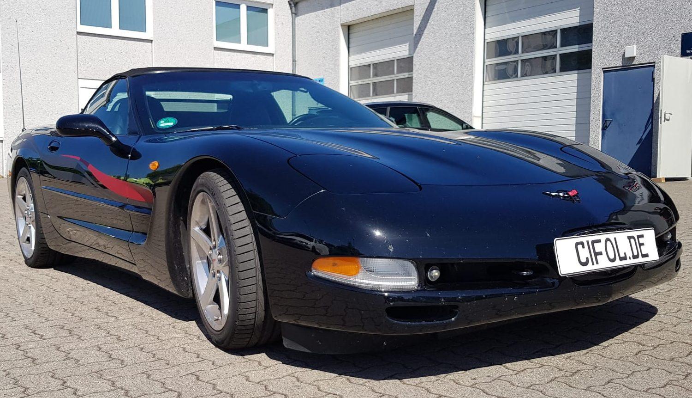 Zierstreifen auf einer Corvette