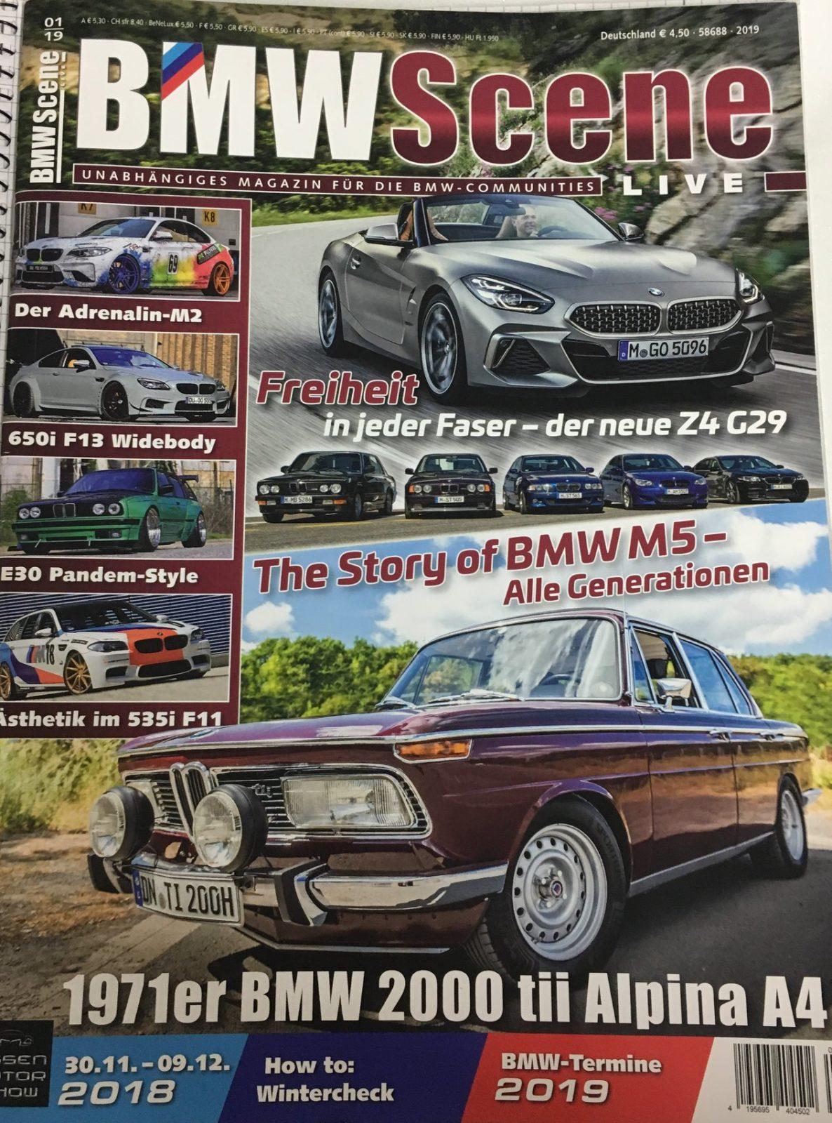 BMW Scene Magazin mit dem BMW M2