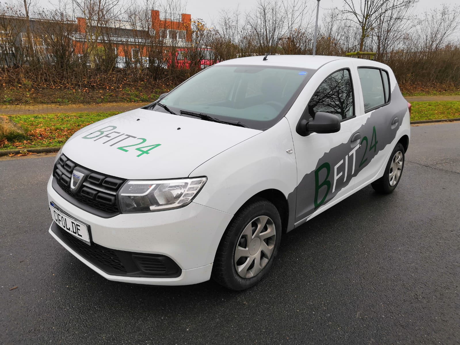 Beschriftung Dacia Sandero
